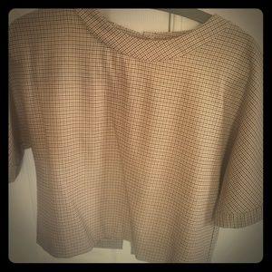 Zara button back crop top